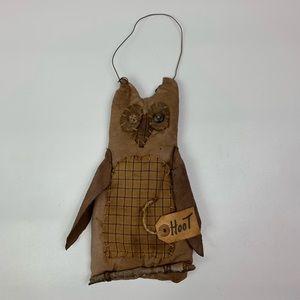 Primitive owl hanging decor